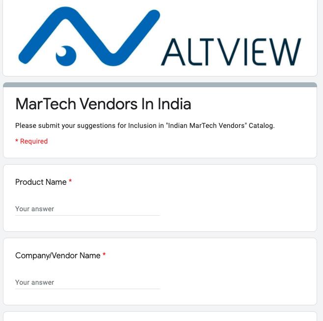 MarTech Vendors